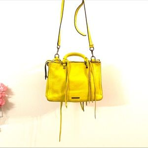 REBECCA MINKOFF Micro Regan Leather Satchel Bag